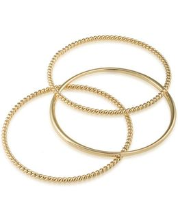 Perfect Pieces Twisted And Smooth Three-piece Bangles