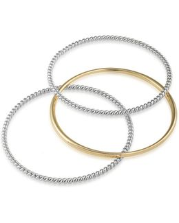 Perfect Pieces 12k Gold & Silver Bangles- Set Of 3