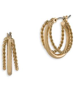 Perfect Pieces 12k Gold Triple Hoop Earrings