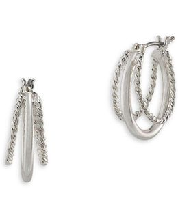 Perfect Pieces Twisted Hoop Earrings