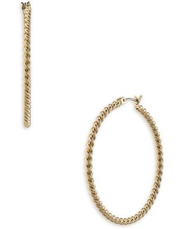 Perfect Pieces 12k Gold Hoop Earrings-1.6in