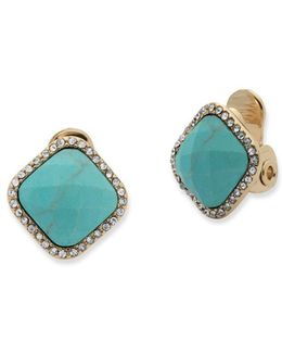 Reconstituted Stone Stud Earrings