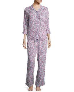 Wild Flower Printed Pajamas