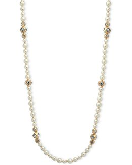 6mm, 7mm, 8mm Faux Pearl Strand Necklace