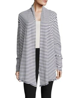 Striped Open-front Jacket