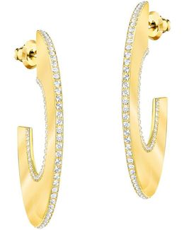 Gelane Wide Pavé Half Hoop Earrings