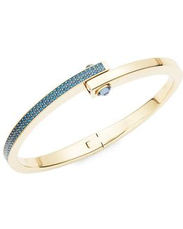 Get Crystal Pave Hinge Bangle Bracelet