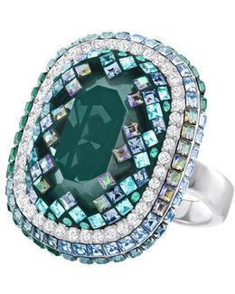 Gaia Bezel-set Crystal Ring