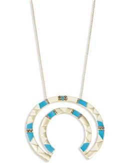 Deco Semi-circle Statement Necklace