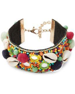 Shell And Beaded Bracelet