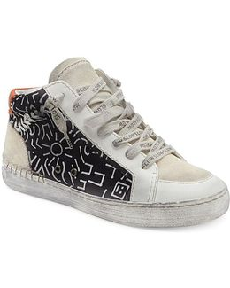 Zane Printed Lace-up Sneakers