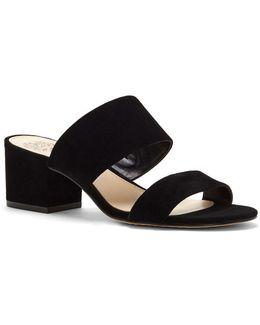 Franine Leather Slide Sandals