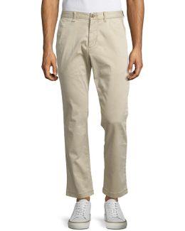 Boracay Solid Flat-front Pants