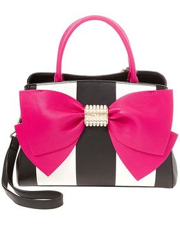 Rainbow Bow-front Satchel