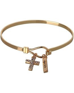 Basic Have Faith & Cross Charm Bracelet