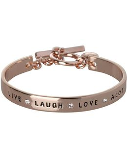 Basic Live Laugh Love Alot Crystal Bracelet