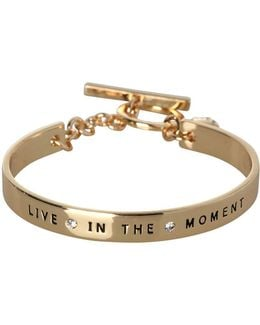 Basic Live In The Moment Etched Bracelet