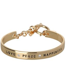 Basic Love Peace Happiness Crystal Bracelet