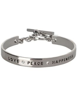 Love Peace Happiness Bracelet