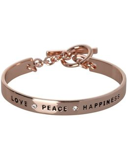 Basic Studded Love Peace Happiness Bracelet