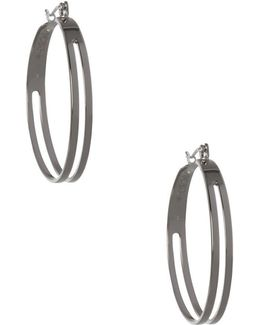 Replenishment Two Row Hoop Earrings- 1.37 In.