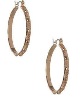 Replenishment Chevron Hoop Earrings/1.10""