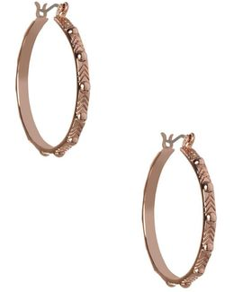 Replenishment Patterned Hoop Earrings/1.10""
