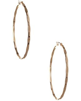 Replenishment Patterned Hoop Earrings/2.36""