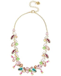 Flat Out Floral Mixed Stone Collar Necklace