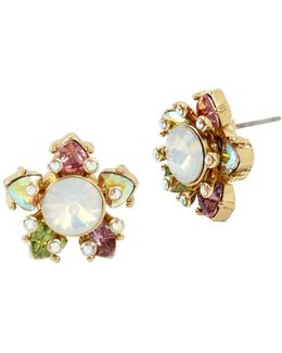 Flat Out Floral Stud Earrings