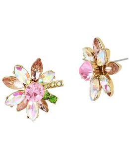 Flat Out Floral Mixed-stone Stud Earrings