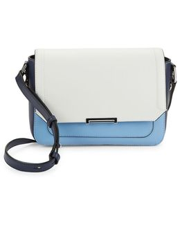 Mara Eclipse Two-tone Leather Crossbody Bag