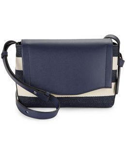 Gramercy Leather And Denim Messenger Bag