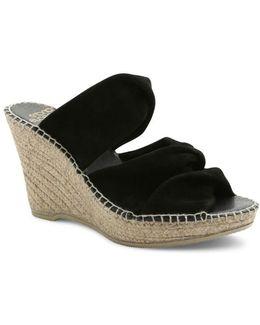 Sun Suede Platform Wedge Espadrille Sandals