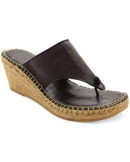 Alyssa Espadrille Thong Leather Sandals