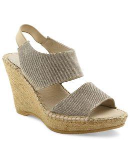 Reese Suede Platform Wedge Sandals