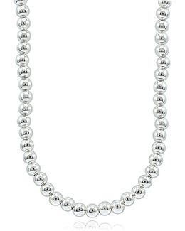 Sterling Silver Beaded String Necklace
