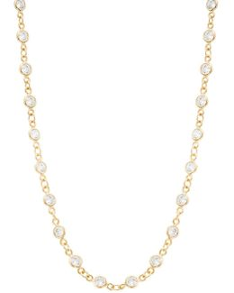Cubic Zirconia Cable Chain Necklace