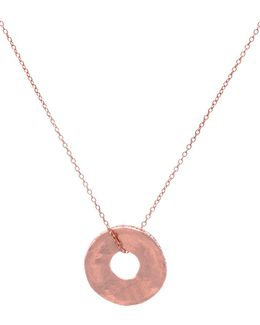 18k Rose Gold Open Circle Necklace