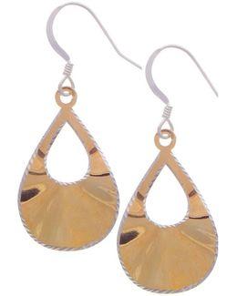 Goldplated Teardrop Earrings