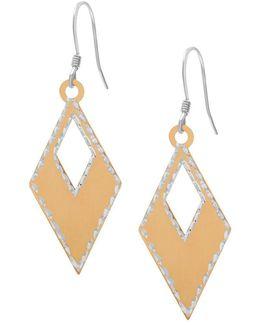 Diamond Shaped Drop Earrings