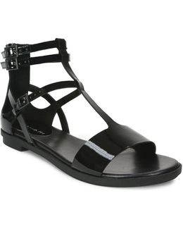 Wave Flat Leather Sandals