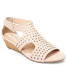 Sydnee Wedge Leather Sandals