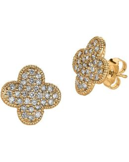 0.74tcw Diamond And 14k Yellow Gold Stud Earrings