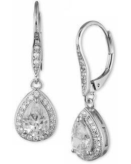 Cubic Zirconia Pear Drop Earrings