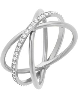 Brilliance Crisscross Pavé Ring