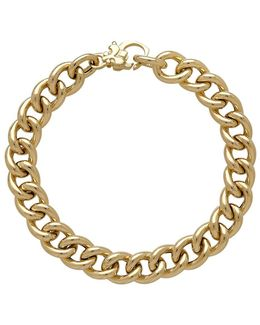 14k Italian Gold Thick Curb Link Necklace