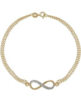 14k Italian Gold Double Chain Infinity Necklace