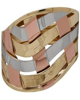 Gold Rush 14k Gold & Rose-gold-plated Woven Band Ring