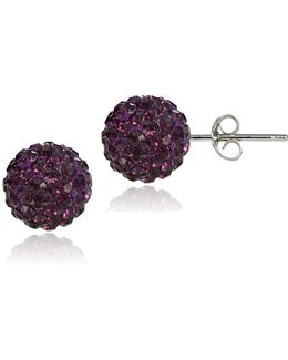 Sterling Silver Fireball Stud Earrings